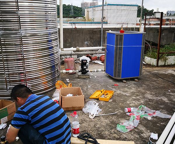 深圳巨志工业园区—5T空气能热水工程