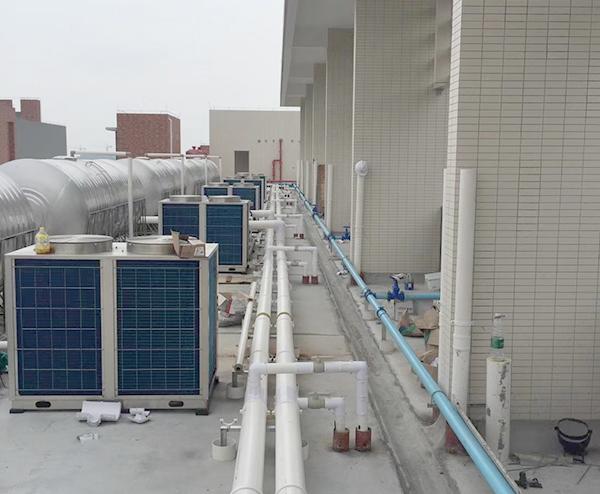 深圳职业技术学院—50T太阳能+空气能热水工程