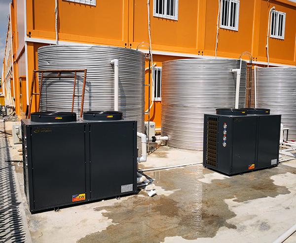 中建科技长圳项目生活区—60T空气能热水工程